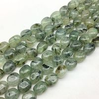 AA Quality Natural Green Hair Quartz Stone Beads Smooth Egg Oval Spacer 10 14 Mm DIY