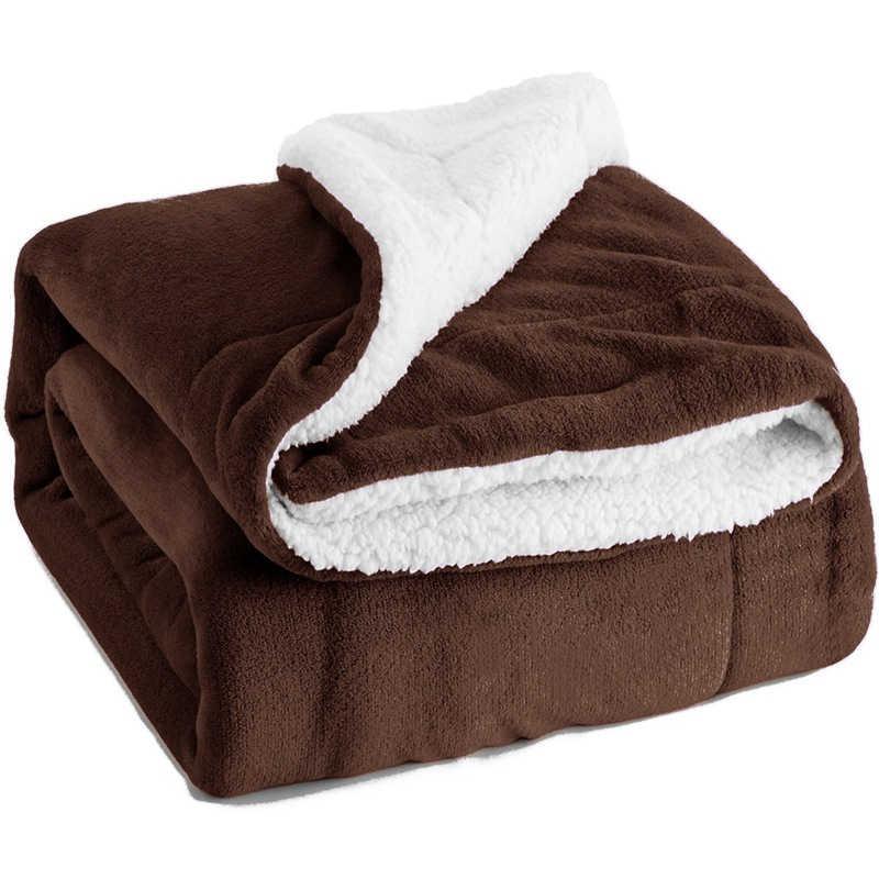 Толстая мягкая тепловая фланеливая ткань плед с искусственной меховой подкладкой сплошной плюшевый двухслойный дорожный диван автомобиль покрывало дети взрослый сон одеяло 130*160 см