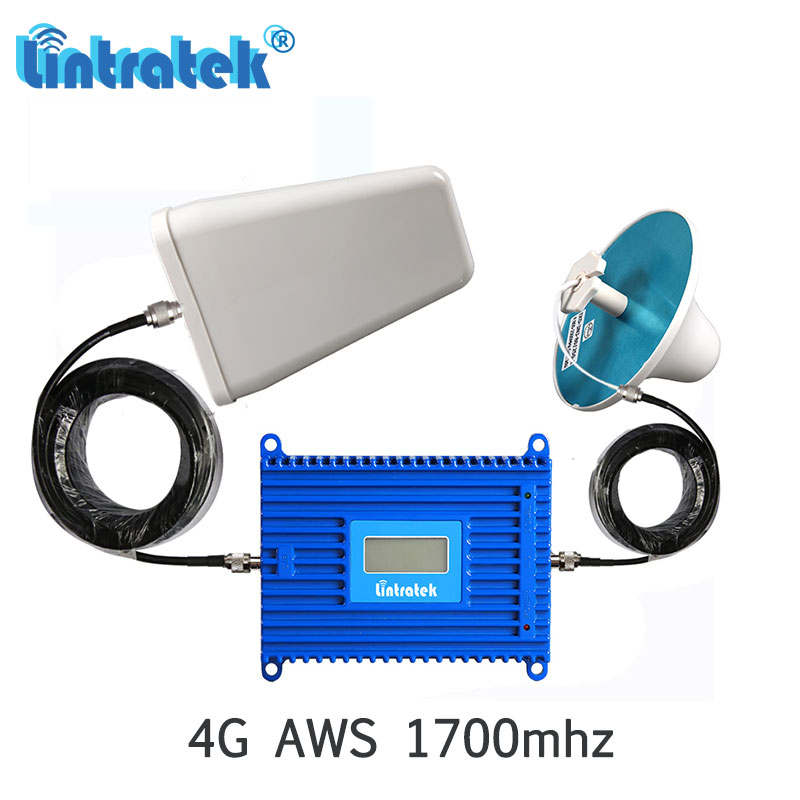 Lintratek Powerful 70dB Gain AWS 4G 1700/2100MHz Signal Booster B4 LTE 1700MHz Cellular Network Repeater Amplifier Full Kit S3-2Lintratek Powerful 70dB Gain AWS 4G 1700/2100MHz Signal Booster B4 LTE 1700MHz Cellular Network Repeater Amplifier Full Kit S3-2