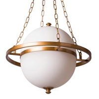 Saturn Halo Planet Pendant Lamp Iron Frame New Light Art Deco Sitting Room Resturant