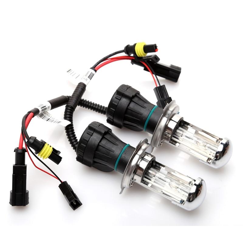 2pcs xenon H4 bixenon lamp 35W H4 H13 9004/9007 HID Bi xenon  Replacement bulb HID Headlight 4300K 6000K 8000K 10000K 2pcs 12v 35w xenon h4 2 hid xenon bulb lamp 4300k 6000k 8000k 10000k hid xenon light