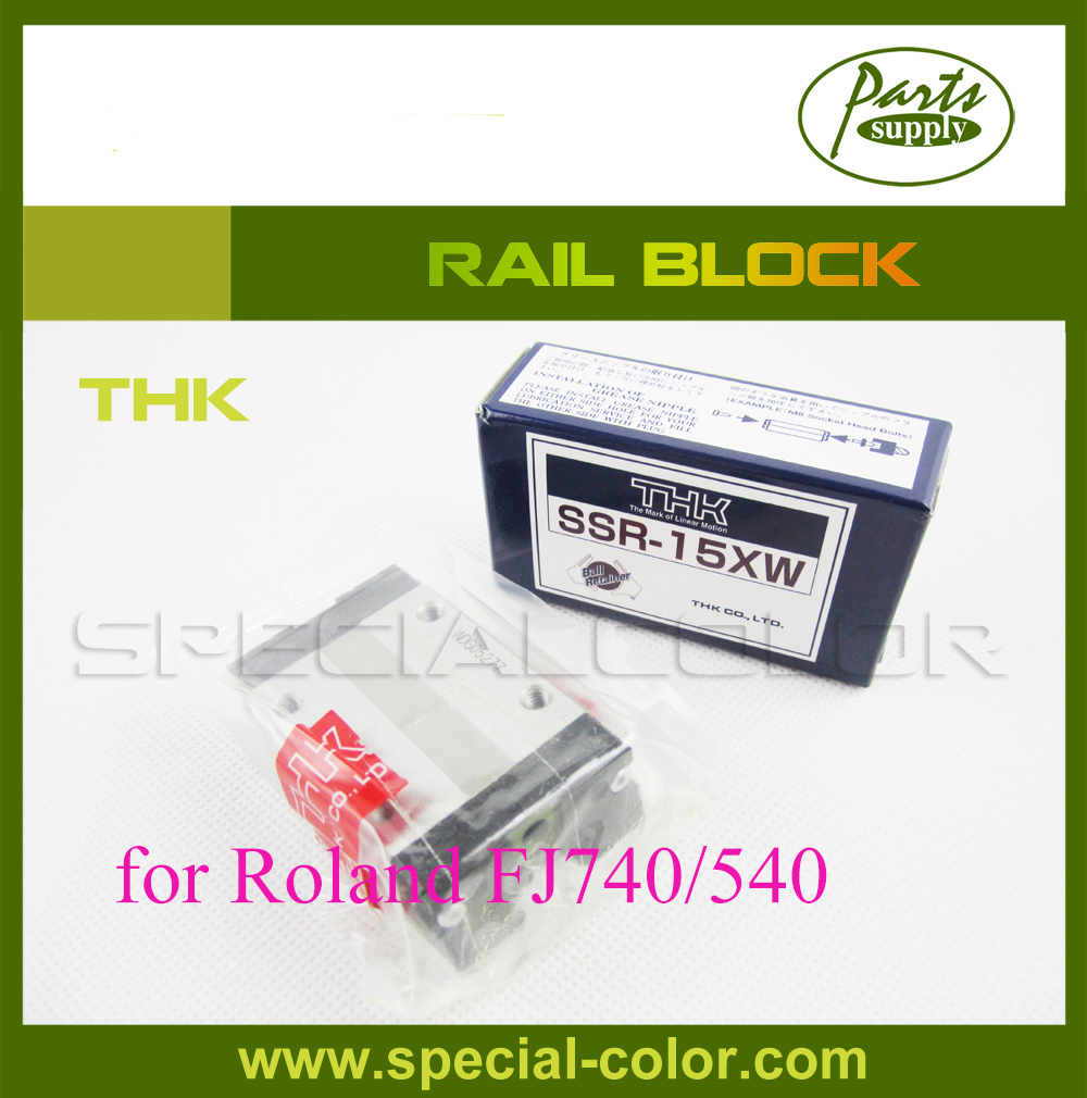 Original THK Rail block for Roland FJ740/540 printer 2pcs lot original from japan roland block slider thk bearing for roland fj540 fj740 vj740 ra640 vp540 sp540 sj540 sj740 printer