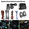 9Pcs Car SUV Keyless Entry Engine Start Alarm System Push Button Remote Starter Stop Auto Immobilizer