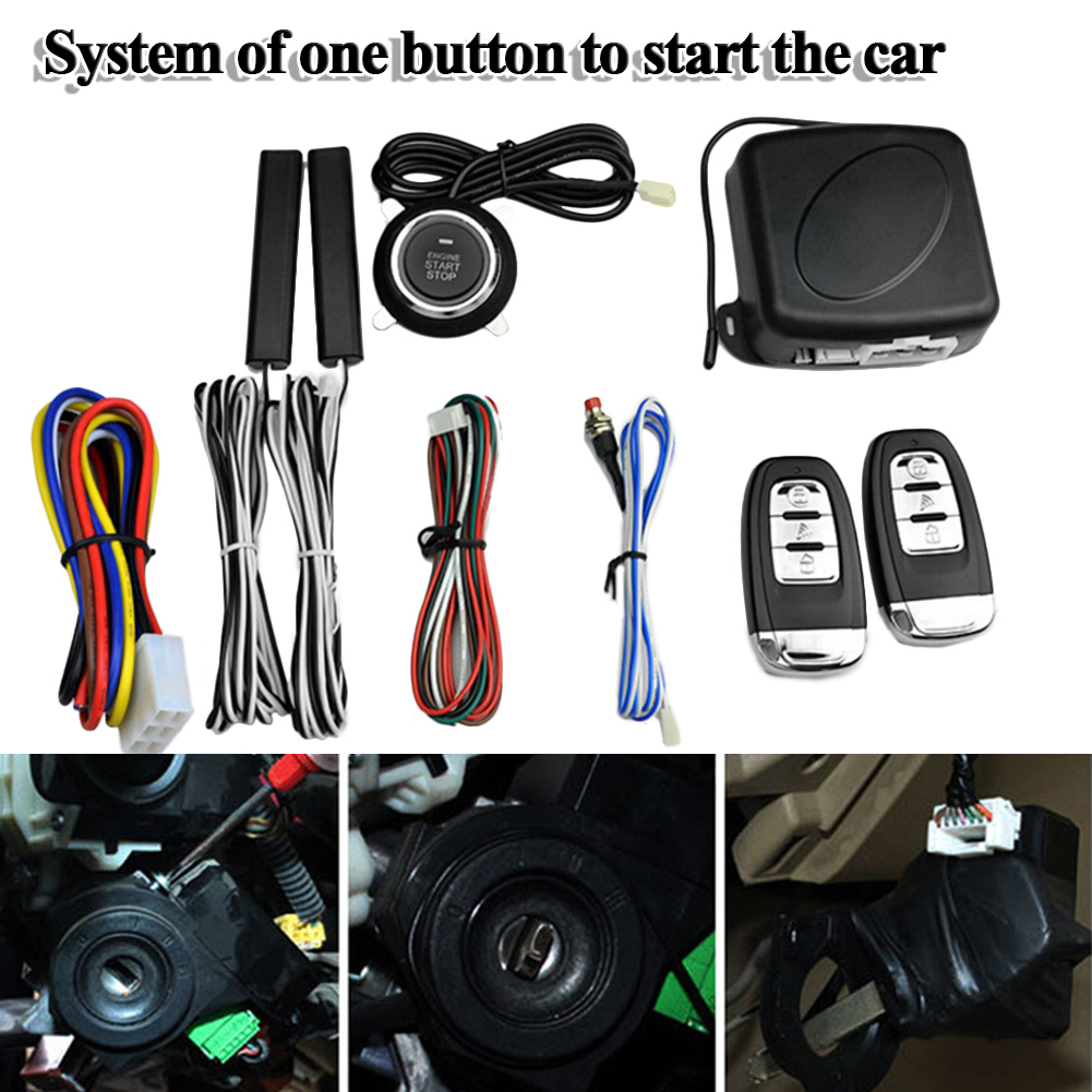 9 pièces voiture SUV sans clé entrée moteur démarrage système d'alarme bouton poussoir démarreur à distance arrêt Auto immobilisateur systèmes 2017