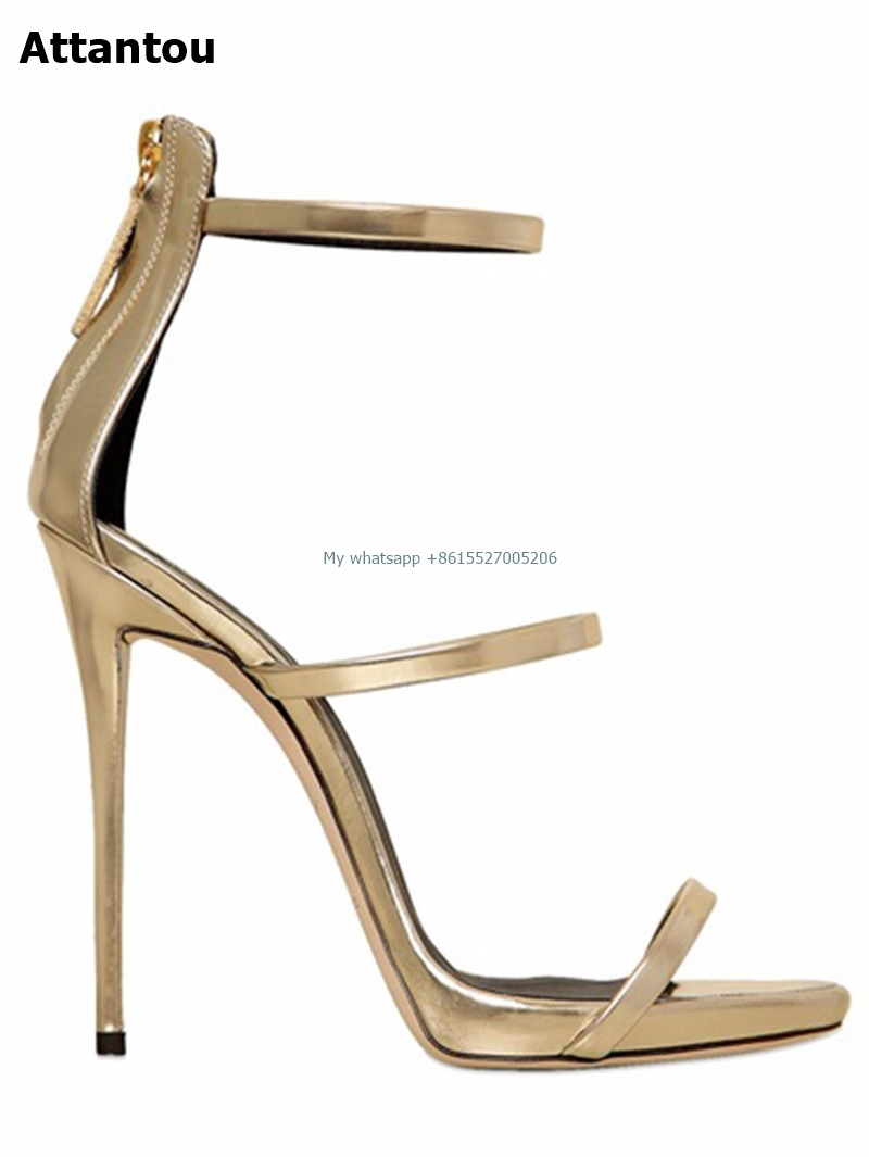 Women Sandals 2018 Summer High Heels Sandal Gold Heels Sandals Women Concise Patent Leather Party Dress Shoes Woman hot sell women high heel sandals gold gladiator sandal shoes party dress shoe woman patent leather high heels 5186 11a