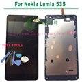 1/pcs para microsoft para nokia lumia 535 display lcd touch screen digitador com a montagem do quadro 1607 ou 1973