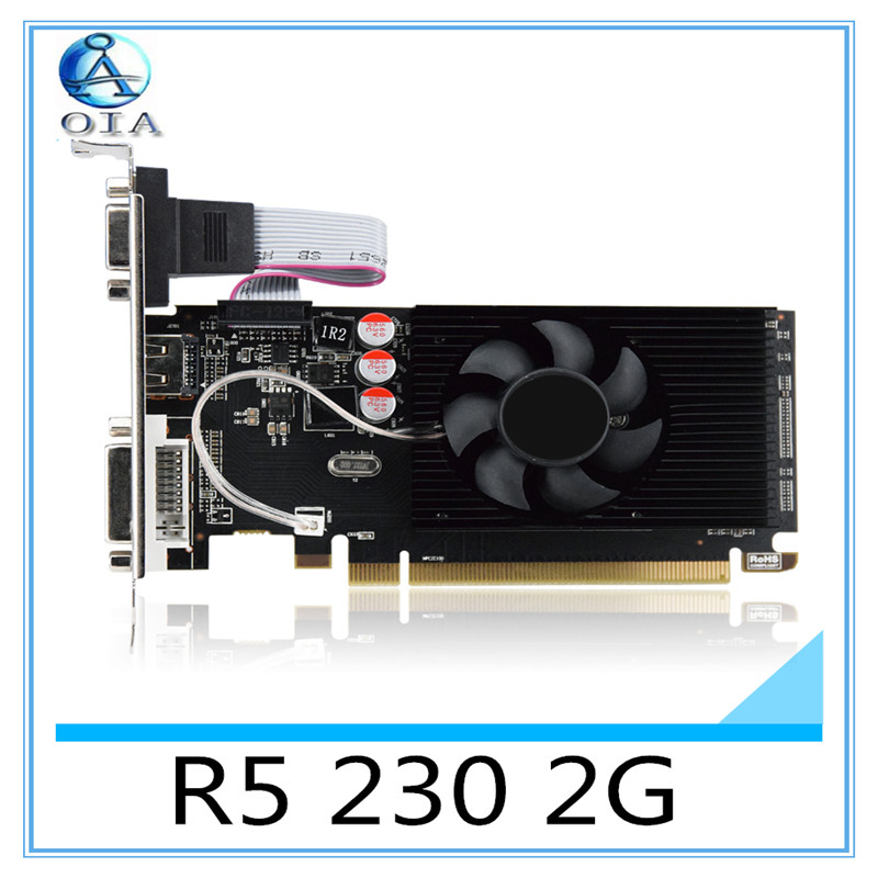 New Graphics card  R5 230 2G D3 independent game video card VGA+HDMI+DVI free shipping video card