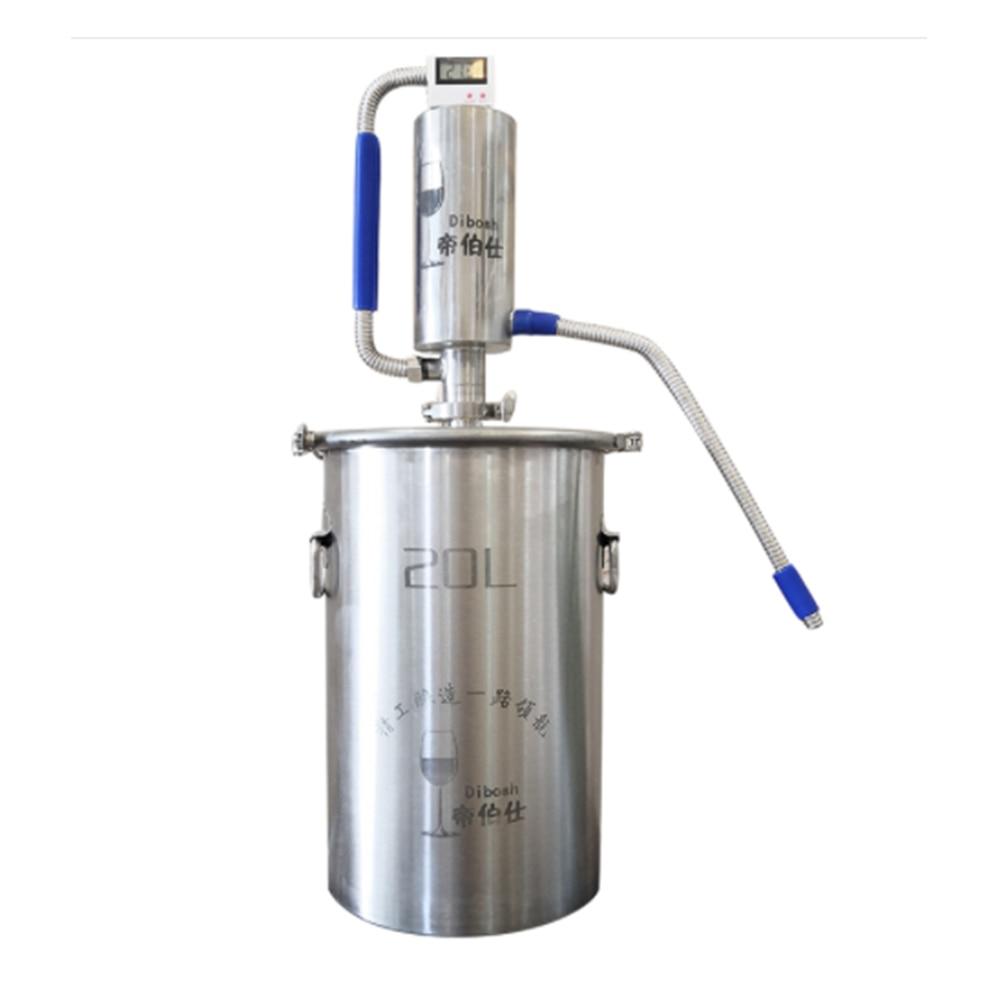 Самогон Homebrew дистиллятор пивоварения спирта машина дистиллятор 20л