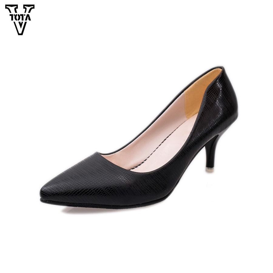 VTOTA Fashion High Heels Platform Shoes New Women Pumps Office Shoes Slip On Shoes Woman OL Pumps Party Career Shoes for Women vtota high heels thin heel women pumps ol pumps offical shoes slip on shoes woman platform shoes zapatos mujer ladies shoes g56
