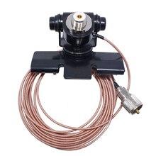 Pince de support de montage dantenne de voiture Nagoya RB 400 avec câble dalimentation Coaxial dextension de 5M pour KT 8900 QYT, Radio Mobile de KT 8900R