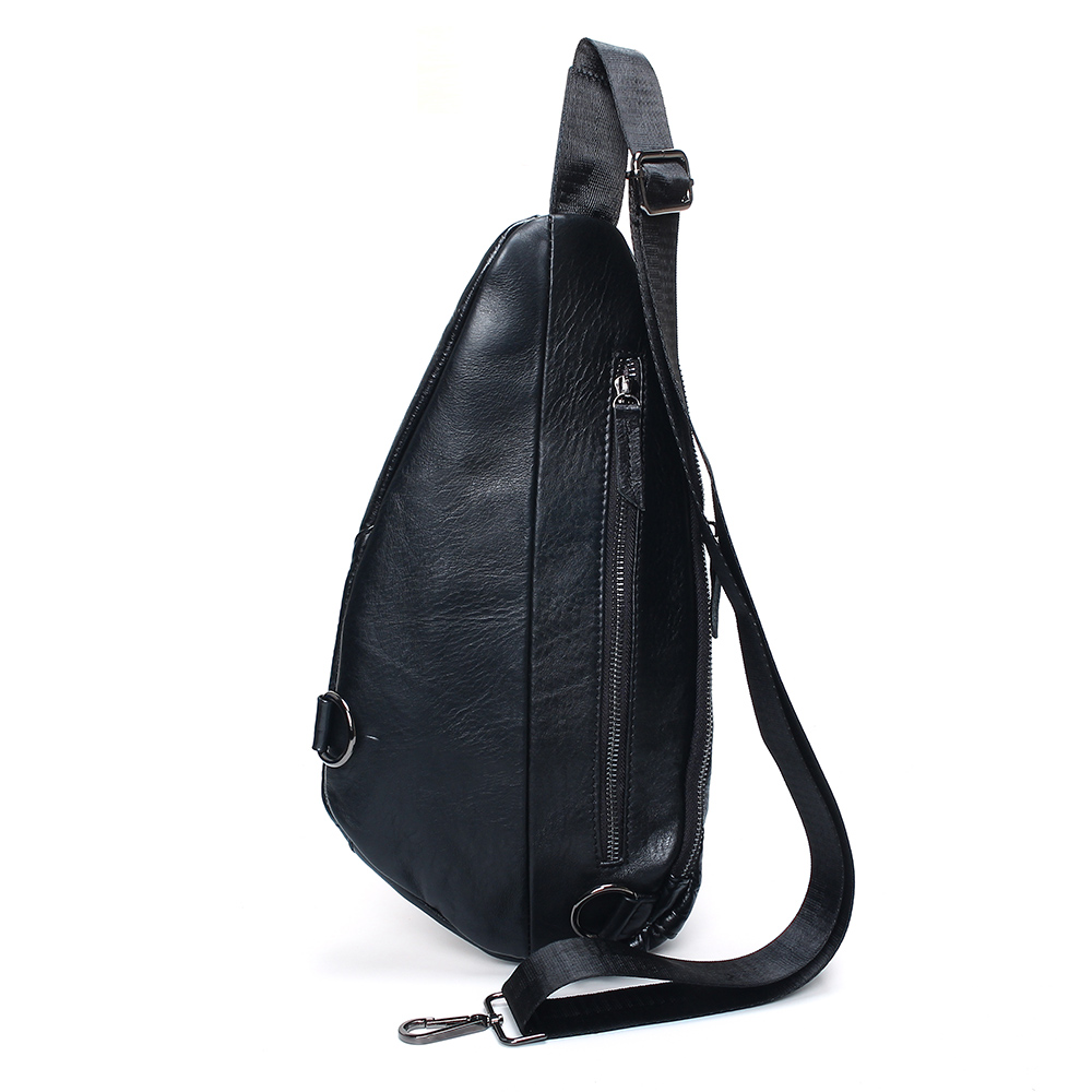 2019 Fashion Genuine Leather Crossbody Bags Men Casual Messenger Real Leather Bag Brand Designer Male Shoulder Bag in Crossbody Bags from Luggage Bags
