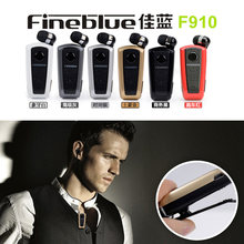 Fineblue F910 Earphone Wireless Driver Auriculares Bluetooth Earphone Vibration Wear Clip Stereo Sport Headset for Driving(China)