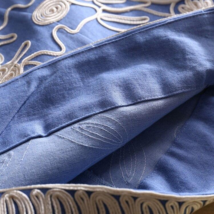 Piste Femmes Parti Sexy De Designer Robes Haute Imprimer High D'été Street 2018 Plage Bureau Nouveau Qualité Broderie Denim Mode 8nvNm0wO