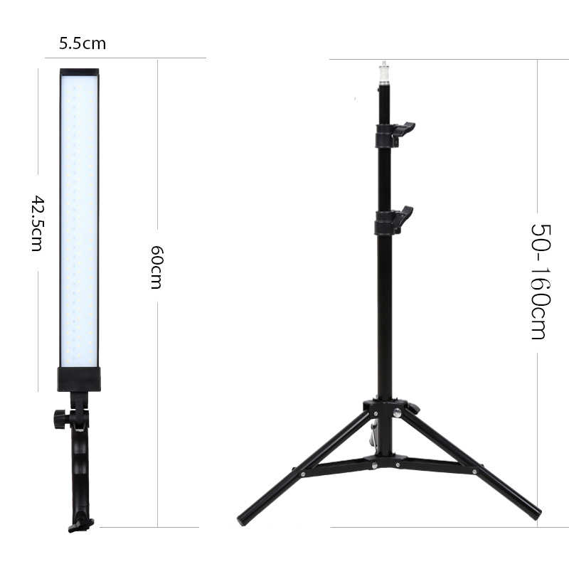 Gskaiwen Photography Light Studio Led Lighting Kit Adjule With Stand Tripod Photographic Video Fill