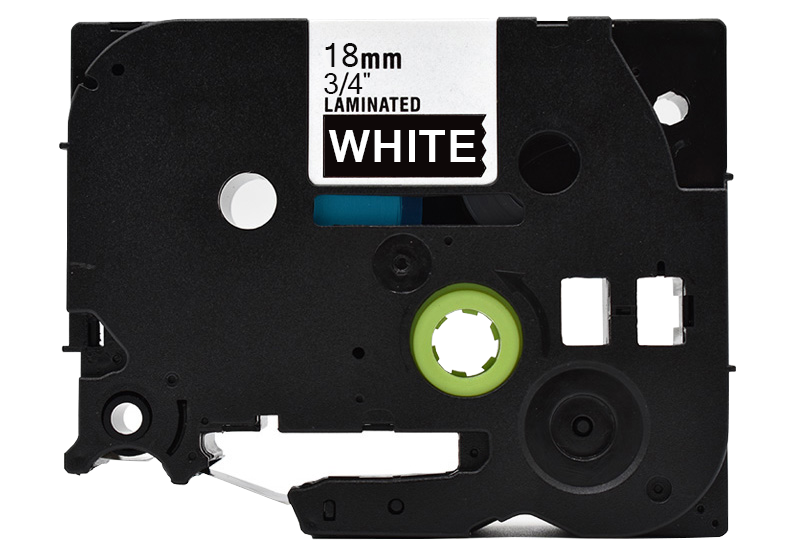 """8PK TZ345 TZe345 White on Black Label Tape 18mm For Brother P-touch PT-2610 3//4/"""""""