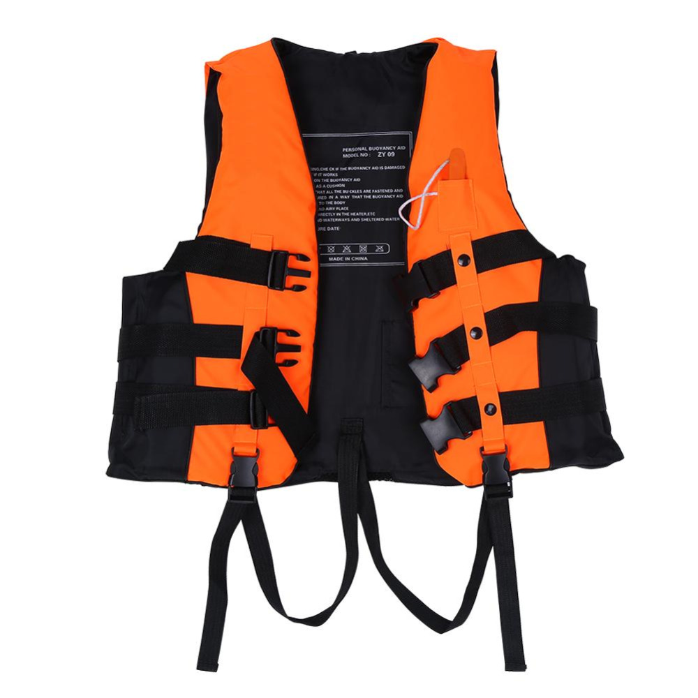 Whistle Hc New Orange Prevention Flood Adult Foam Swimming Life Jacket Vest