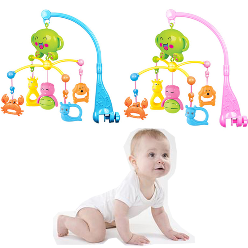 Baby Windbell Rattles windbells Rotary Mobile Musical Colorful Cartoon shape Bed Hanging Bells Educational Toys