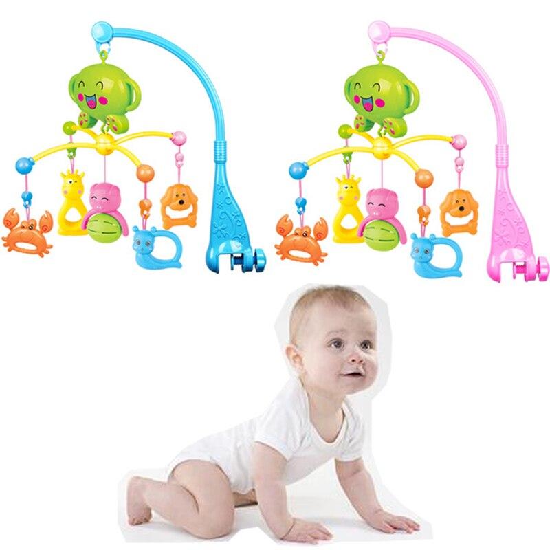 Bébé clochette hochets clochettes rotatif Mobile Musical coloré bande dessinée forme lit suspendus cloches jouets éducatifs