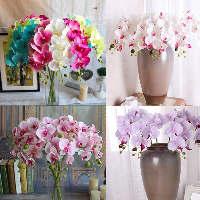 Orchideen Kopf sieben kopf schmetterling orchidee kopf spun seide tuch hochzeit