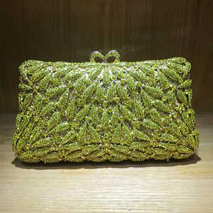 Для женщин зеленый фиолетовый кристалл Сумки кошелек Люкс Свадебная вечеринка Ежедневные клатчи Коктейль Пром Банкетный вечерние сумки клатч кошелек красный