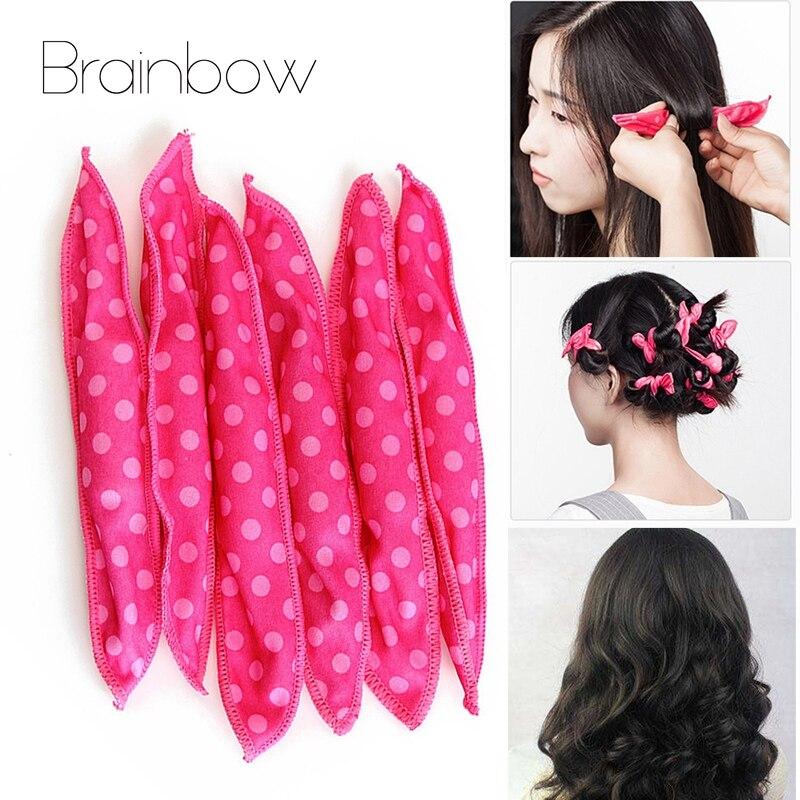 Brainbow 20/30 Soft Hair Curlers Rollers Magic Sleep Sponge Pillow Flexible Foam&Sponge Hair Roller DIY Salon Hair Styling Tools 1