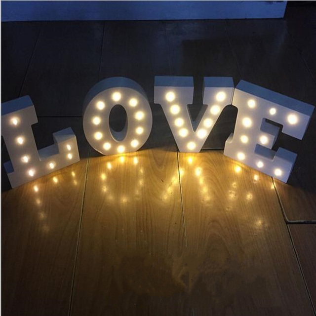 New Arrival Wooden Led Letter Lights Sign Alphabet Night Lights