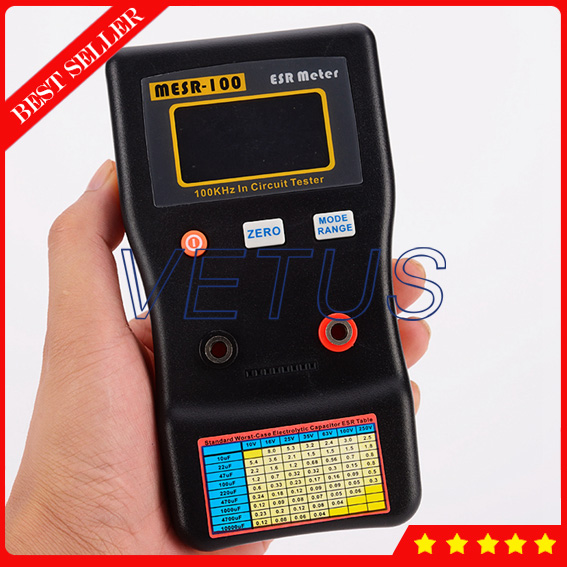 MESR-100 Digital automatic range electrolytic ESR Meter with Professional Resistance Circuit Capacitor Tester цена