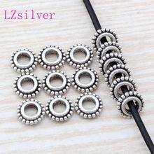 300 Pcs Antique Silver zinc alloy Dotted Rim Rondelle Spacers Beads 8.5mmx8.5mmx2.5mm DIY Jewelry D7