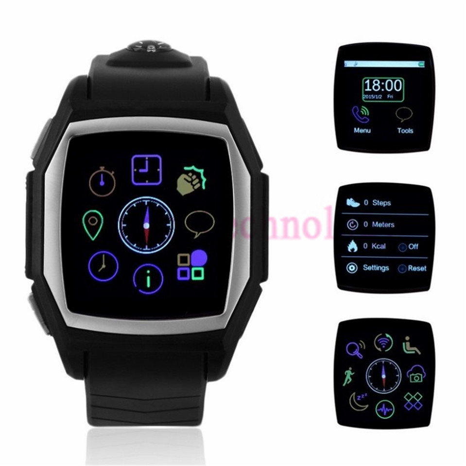 ФОТО Smart Watch Phone Tri-proof Sport Fitness Clock GT68 with Heart Rate Measure GPS Tracker Physical Compass GSM/GPRS SIM Card