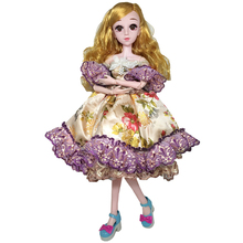 1/3 60cm BJD Dolls with Clothes Princess Dress Gown 21 Movable Jointed Dolls Toy Accessories for Doll Skirt Toys for Girls