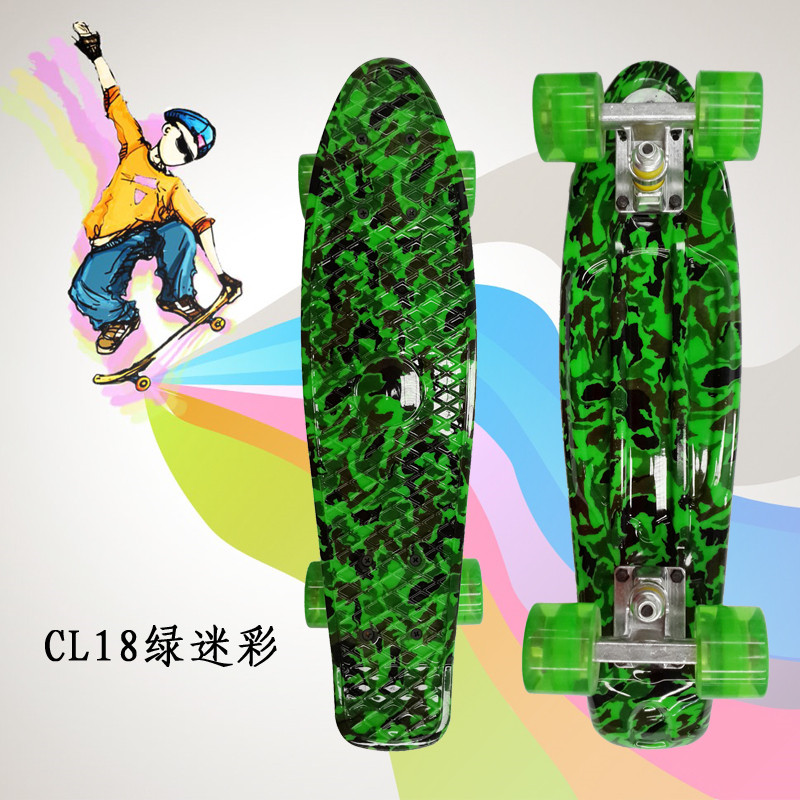 """Image 4 - Peny Board 22""""Plastic Skateboard Boy Girl  Available-in Skate Board from Sports & Entertainment"""