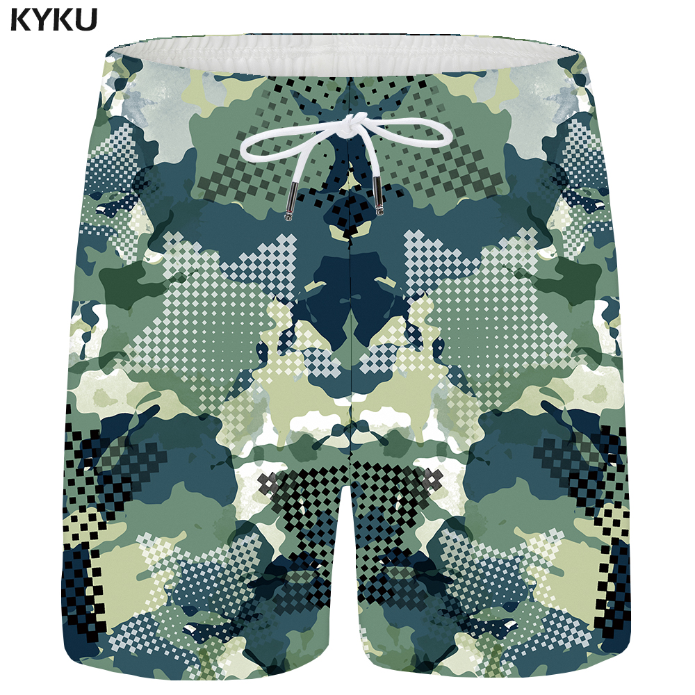 KYKU Camo Shorts Men Military Cargo Casual Shorts Beach Star Ink 3d Printed Short Hip Hop Mens Short Pants 2018 Summer Plus Size