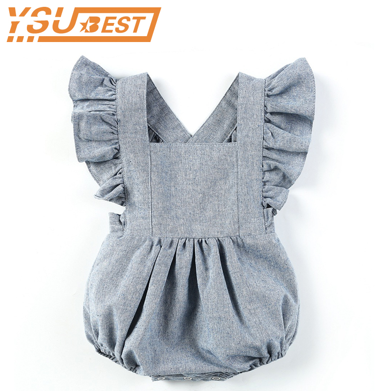 New 2019 Baby Boys Girls   Rompers   Brand Cute Overalls Newborn Baby Boys Clothes Infant Baby Girl Boy Sleeveless   Romper   Jumpsuit