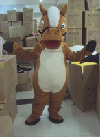 New Professional Horse Mascot Costume Unisex Adult Size Fancy Dress Cartoon Character Cosply Adult Size Carnival Costume
