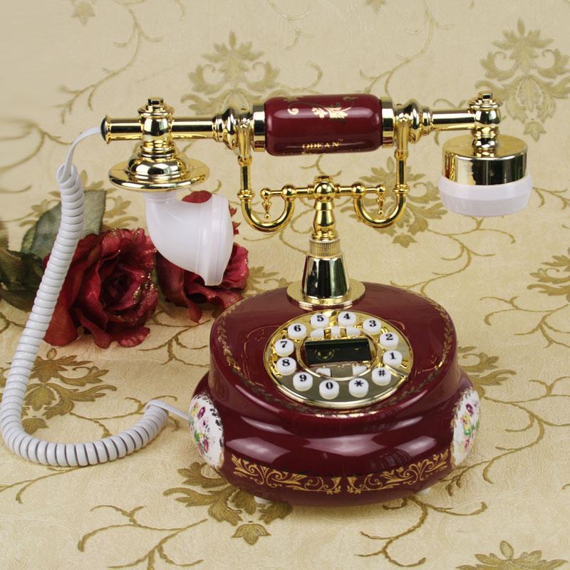 Европейский Сад Ретро Винтаж керамические стационарный телефон Caller антикварные ремесла украшения дома арт деревенский телефон бытовой
