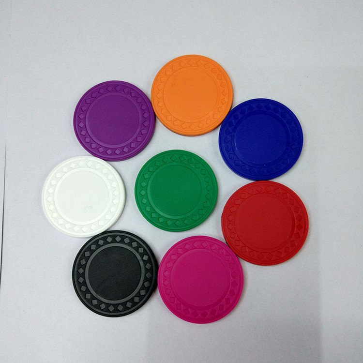 Gambling Circular Environmental Protection Plastic Mahjong Counting Card 9 Colors 40mm Neither Too Hard Nor Too Soft Spirited 10pcs/set No Value Blank Poker Chip Currency