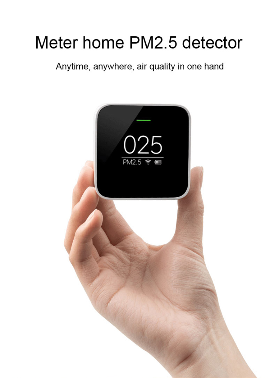 Xiaomi Smart Home Automation Mijia PM2.5 Detector Sensor Air Quality Monitoring domotica domotique Using With Mi Air Purifier  medicine manufacturing industry automation using microcontroller