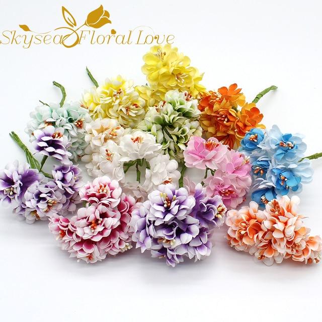 Aliexpress Buy Artificial Cherry Fake Flowers Diy Flower