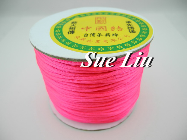 100yds 2mm Neon Roseo Rattail Satin Cord Chinese Knot Beading Cord: Nylon NCN6S