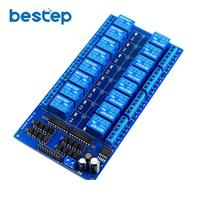 1PCS 16 Channel 5V Relay Shield Module With Optocoupler LM2576 Power Supply For Arduino