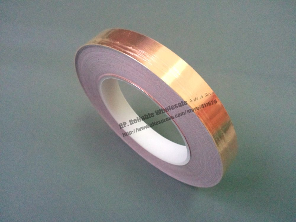 1x 20mm*30M*0.06mm Single Sided Conductive Adhesive Copper Foil Tape Sticky for EMI Shield /Shielding /Mask /Masking Soldering 6mm 30m 0 06mm thick emi shielding copper foil tape double sided conductive single adhesive