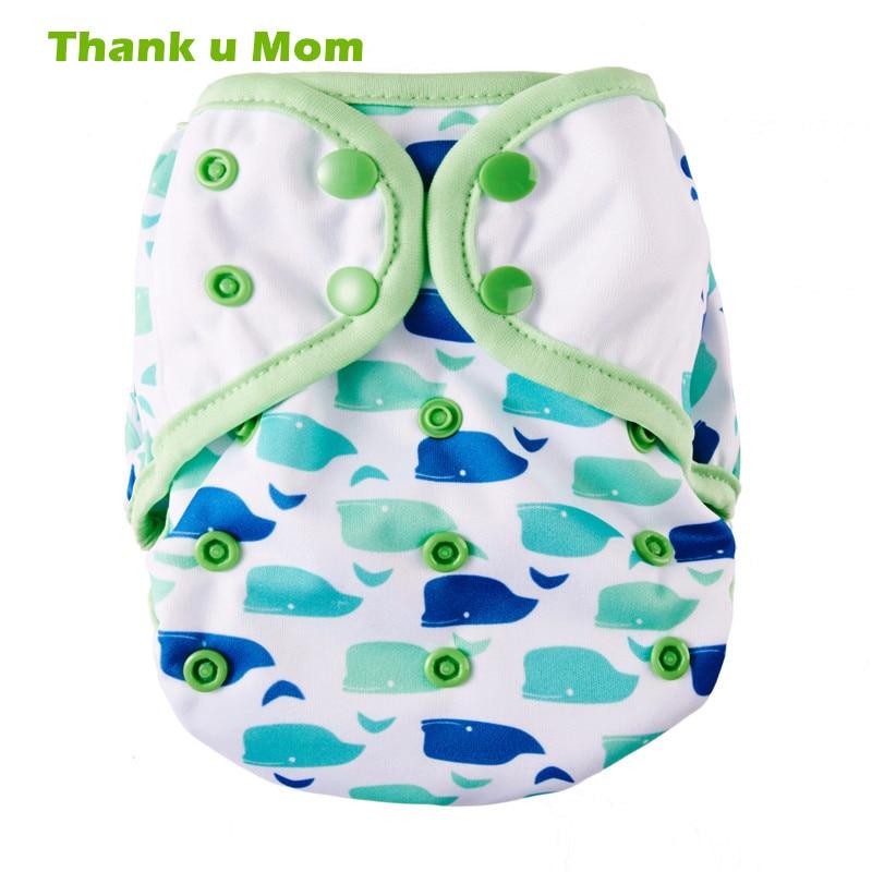Gracias u mamá OS Cubierta de pañal de tela Un tamaño adecuado para todos los pañales de tela modernos Bebé Pantalones de plástico fábrica directa de pañales
