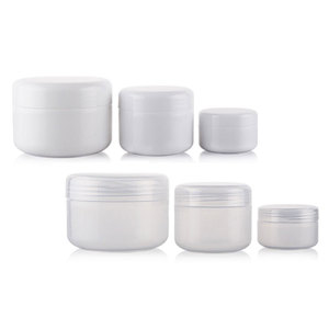 Image 1 - 20g 50g 100g 250g Empty Skin Care Cream Plastic Container , Cosmetic Cream Jars For Personal Care ,Unguent Bottles Pot Canning