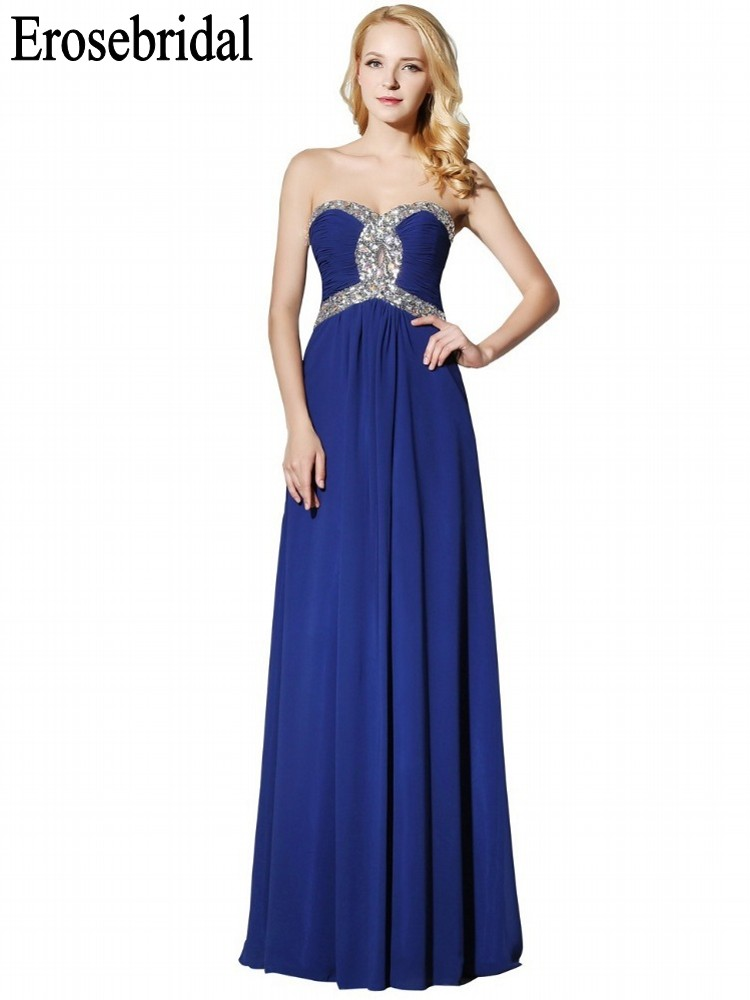 Chiffon Evening-Dress Clearance-Sale Formal Party-Wear Long Elegant Women Simple Sweetheart