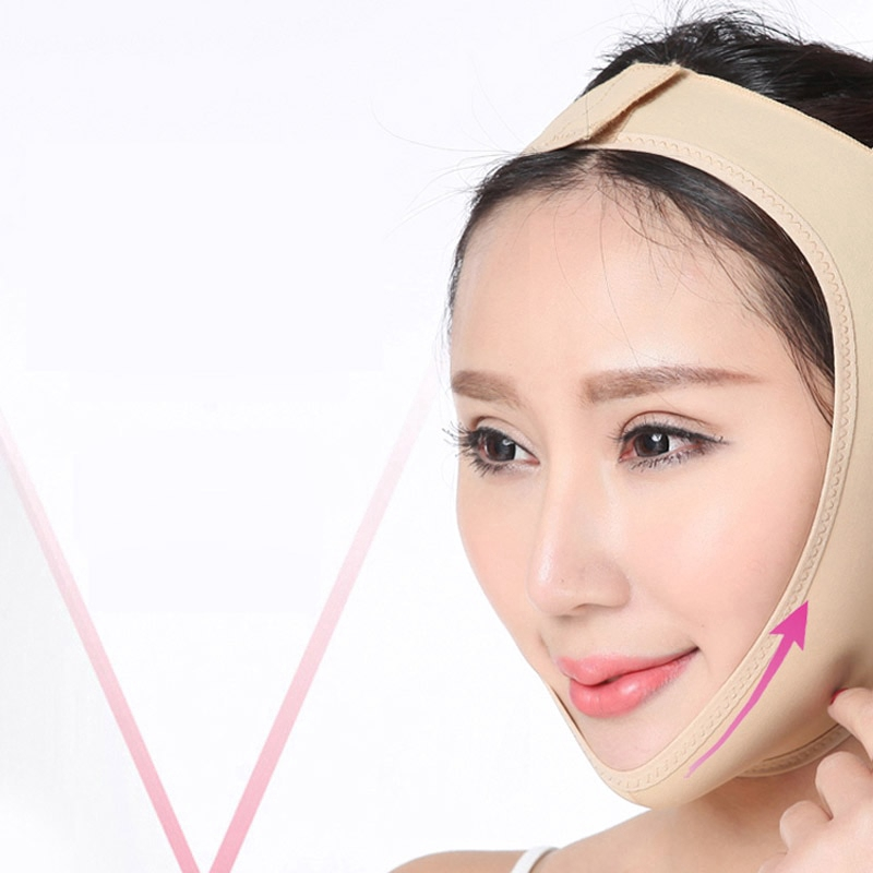 Face V Shaper Facial Slimming Bandage Relaxation Lift Up Belt Shape Lift Reduce Double Chin Face Thining Band Massage Reuseable