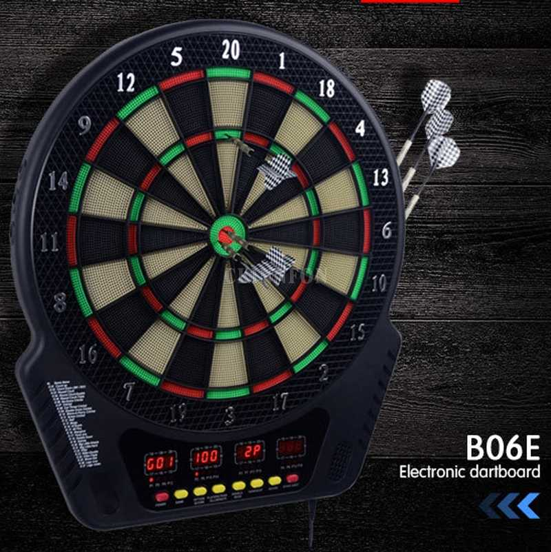 Electronic Darts Board Set Multiplayer LCD Scoring Display with 6 Plastic Tip Darts Shot Game Home Toys