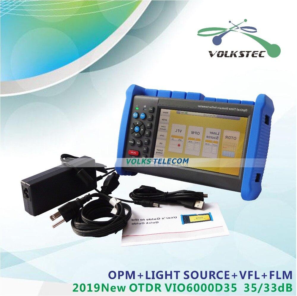 2019 Новый МОЗМ OTDR VIO6000 D35 1310/1550nm35/38dB с OPM VFL источник света Бесплатная доставка