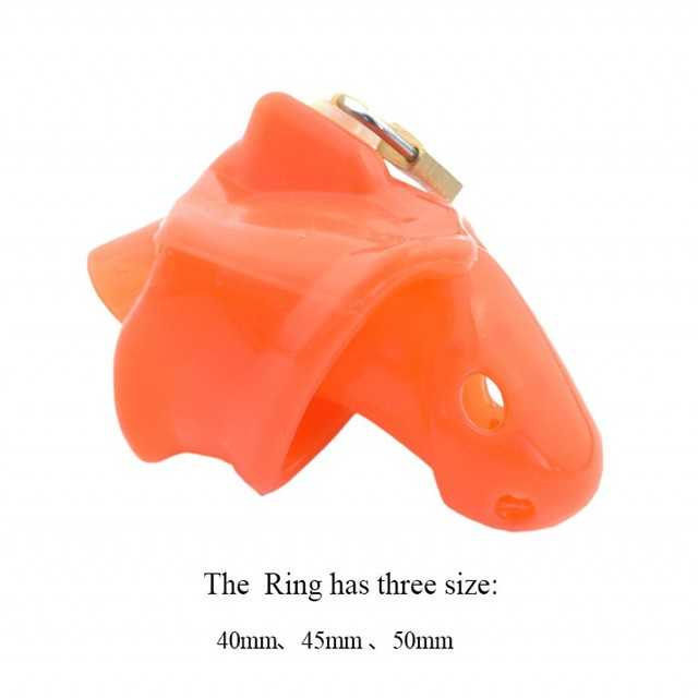 2016 Latest design red Silicone spikes Male Chastity Dick Cage Fixed  Ring size 40mm/45mm/50mm A140-r
