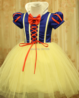 Free Ship Children Girls Luxury Snow White Princess Costume Ballet Dance Dress Fairy Tale Dress Party