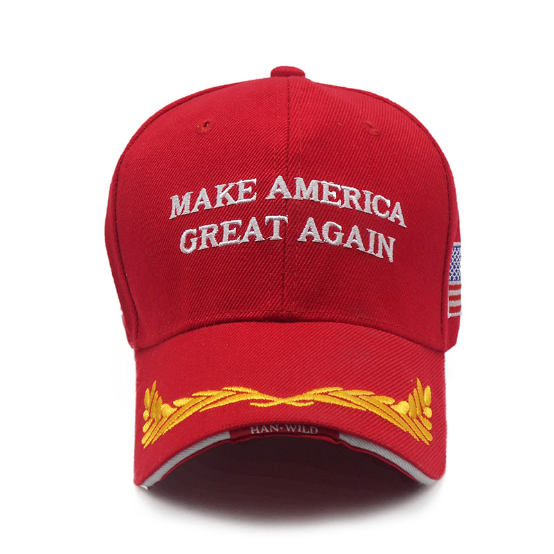 60a34b8ab5f0f Make America Great Again Baseball Cap Swag Donald Trump Speech Hats For Men  Casual Snapback Hat Red Caps Presidential Campaign-in Baseball Caps from  Apparel ...